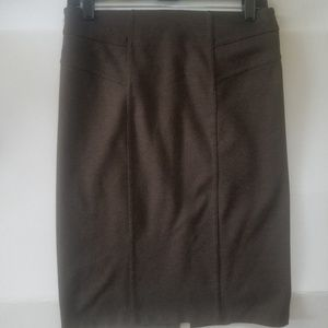 Brown pencil skirt, size 2, 220